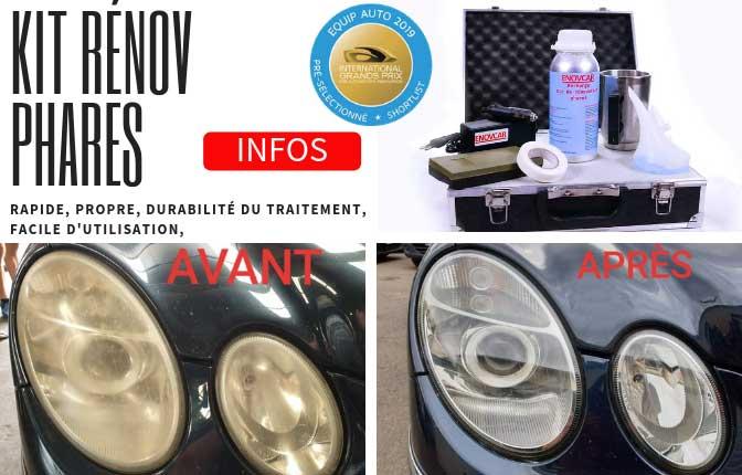 kit de renovation phares plastiques
