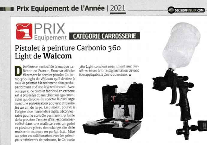 Prix Équipement Carrosserie 2021 par Décision Atelier